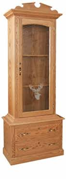 Amish Gun Cabinets in Standard Designs - Amish Custom Gun Cabinets