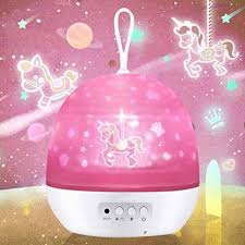 Baby Girl Night Light Projector Girls Night Light 4 In 1 Baby Projector Lamp With Star Ocean Universe Carousel 8 Colors Rotating Projector Light For Bedroom Decoration Ideal Gifts