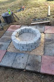 stone fire pit ideas. Easy Stone And Block Firepit Fire Pit Ideas