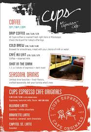 Just wanna know more about the best order on earth? Menu Cups Espresso Cafe
