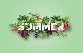 Wallpaper summer, berries, collage ...