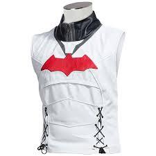 lavelle batman arkham knight red hood high quality faux leather men jacket vest