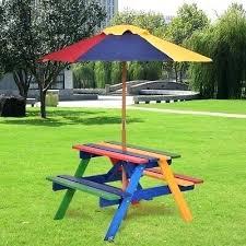 wooden picnic table with umbrella 4 seat kids wood picnic umbrella table garden beach play furniture set wood picnic table with umbrella hole