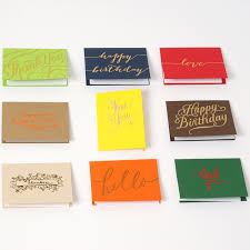 Buisness Greeting Cards Creative Small Business Greeting Cards All Purpose Hot Stamping Gold