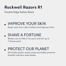 Rockwell Razors R1 Double Edge Safety Razor In White Chrome Butterfly Open 5 Swedish Stainless Steel Razor Blades