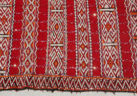 rare moroccan bohemian style rug handwoven by women for their wedding day this vintage