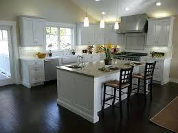 Kitchen With Black Floor Tiles Decoration Dark Wood Floors In
