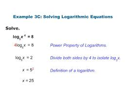 solve the logarithmic equation for x jennarocca