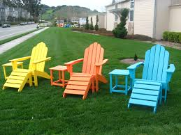 outdoor furniture colors. Long Island Adirondacks In Lemon Yellow, Tangering Orange And Aruba Outdoor Furniture Colors