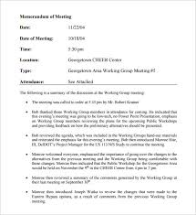 Memo For A Meeting Sample Magdalene Project Org