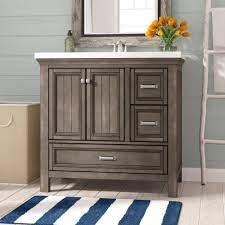 Beachcrest Home Melgar 36 Single Bathroom Vanity Base Only Reviews Wayfair