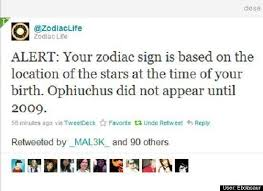 New Zodiac Sign Chart With Ophiuchus New Zodiac Sign Dates Ophiuchus The 13th Sign Huffpost Life