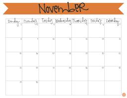 November 2015 Calendar Free Printable Live Craft Eat