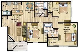 3 bedroom apartments plan. 3 Bedroom Apartments Plan