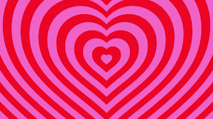 Love Hearts Background Loop Valentines Day Red Pink Motion