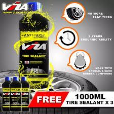 Viza Premium Tire Tyre Sealant 1l Bundle Of 4 X 1000ml