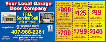 local garage door repairGarage Door Coupons  Local Garage Door 0 Service Call 407 581
