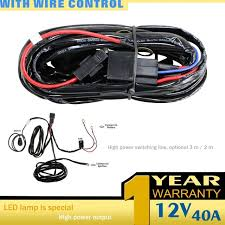 aliexpress com buy led light bar wiring harness for off road led light bar wiring harness for off road jeep suv boat atv 40 amp relay on