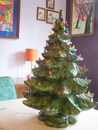 Ceramic Christmas Tree With Bird Lights Price Dropped Stunning Vintage Green 22 Inch Ceramic