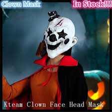 Mask Decorating Supplies Halloween Cosplay Horror Face Mask Scary Clown Mask Payday Grim 53