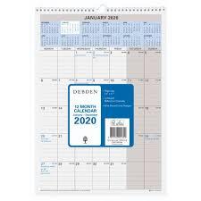 Debden 12 Month Wiro Calendar 300 X 432 2020