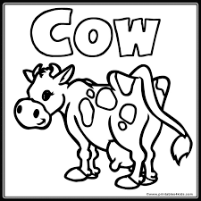Small Picture cow coloring pages by jayden Free Printables
