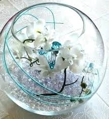 bowl centerpiece ideas glass decorating fish bowls