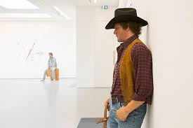 Duane Hanson's hyperreal sculptures question how we address the world