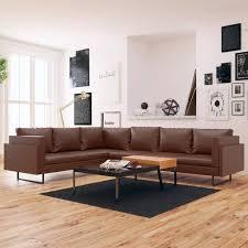 Couch Vidaxl Ecksofa Kunstleder Ledersofa Eckcouch Fotos