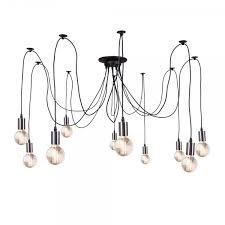 cult living spider chandelier pendant lights chrome