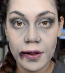 with this half zombie makeup you ll be the envied one at this years zombie makeup on fake blood special effects and easy zombie makeup tutorial country