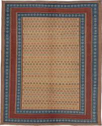 middle eastern blue red embroidered kilim rug from fj hakimian