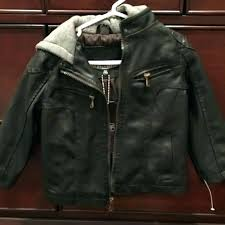 urban republic jacket leather m faux hooded womens