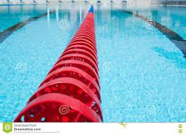 lane rope plastic swimming pool lane rope floating on water surface royalty free stock images