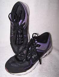 fila 73277. la foto se está cargando fila-73277 -negro-purpura-correr-caminar-zapatos-talla- fila 73277 i