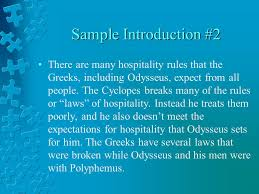 the odyssey hospitality essays ppt  4 sample introduction