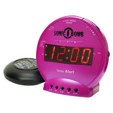 sonic alert sonic sbb500ss vibrating alarm clock in pink