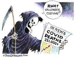 ilrations covid grim reaper
