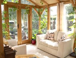 comfy brown wooden sunroom furniture paired. Comfy Brown Wooden Sunroom Furniture Paired. Fresh Floral Nuance In A Sun Porch Pair Of Paired I