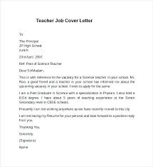 Example Of Cover Letter For Teaching Job Cover Letters For Teaching
