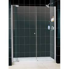dreamline dl 6432r 01cl allure frameless pivot shower door and slimline 30 by 60 single threshold shower base right hand drain