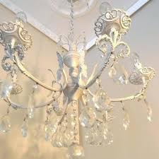 vintage white chandelier vintage white shabby chic chandelier from antique white metal chandelier