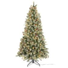 Cute B Q Pre Lit Christmas Trees Sweetlooking 7ft Lights Decoration