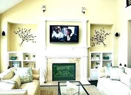 fireplace wall decor printed electric mount ideas brick mantel dec decorating tall over design pictures