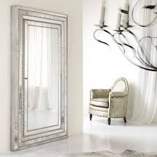 silver floor mirror. Furniture: Mesmerizing Oversized Floor Mirror For Home Furniture Throughout Full Length Silver Mirrors (Image