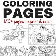 Lego Coloring Books 180 Free Printable Lego Coloring Pages Brain