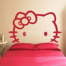 hello kitty white headboard wall decals stickers