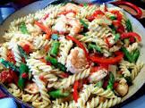 beverage gang dedication shrimp  pasta  and asparagus supreme