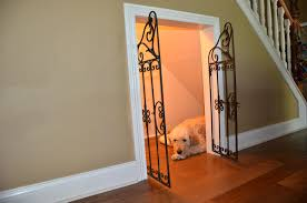How to make a dog crate Wooden Under Staircase Dog House Spartadog Blog Diy Dog House Under The Stairs Tutorial The Rodimels Family Blog