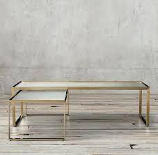 nesting coffee table regarding restoration hardware tables design nicholas marble